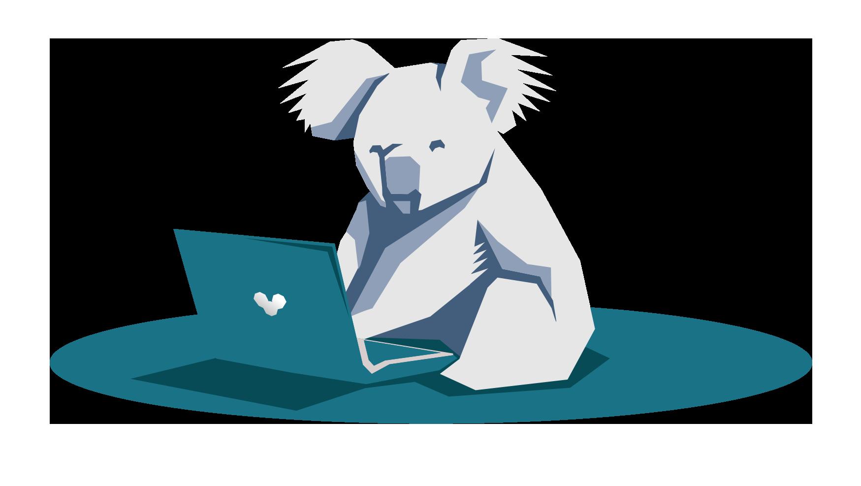 Illustration du Koala, symbole du logo de l'agence web Koality dans le Finistère qui assure la gestion de son site Itnernet