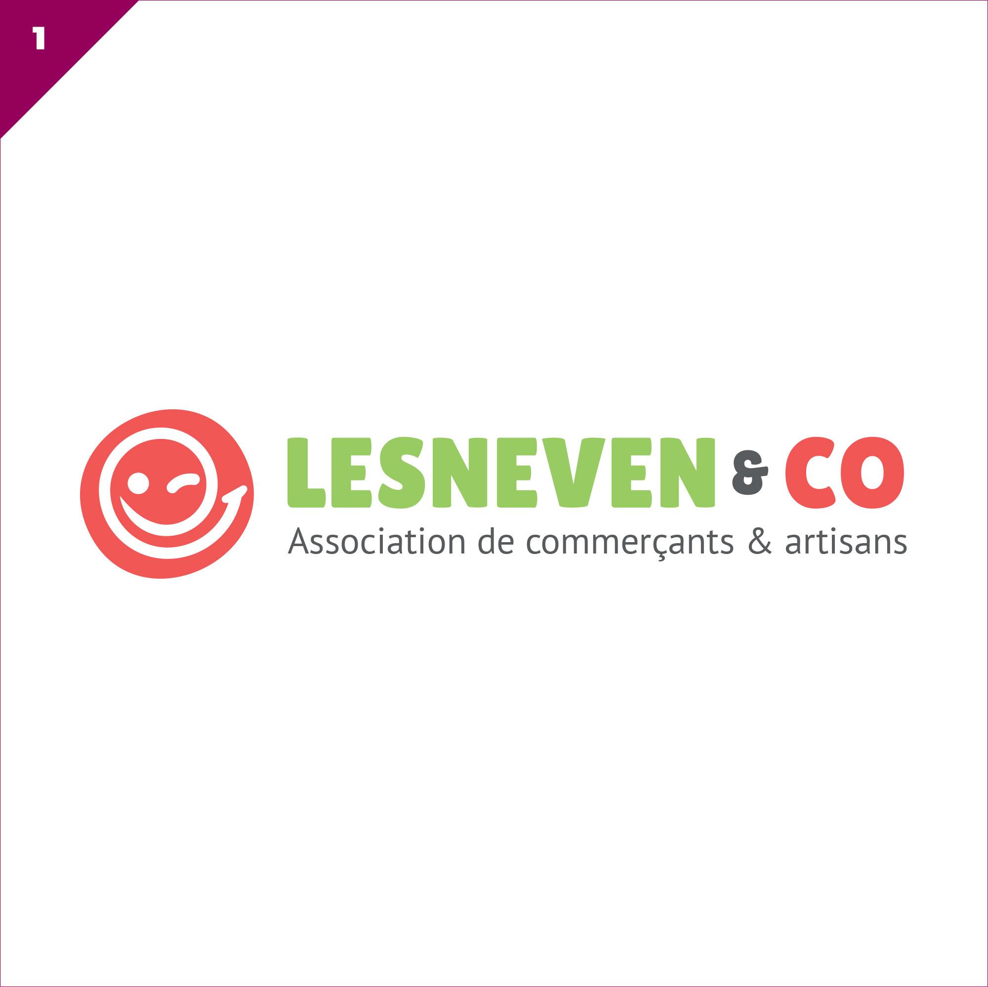 Identité visuelle Association de commerçants et artisans Lesneven & Co