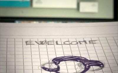 Création du logo d'Ewelcom, spécialiste en solutions d'impressions tous supports